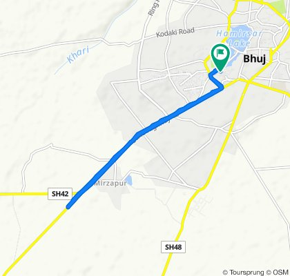 Relaxed route in Bhuj