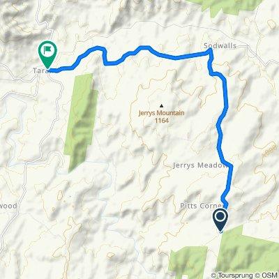 Cut Hill Road, Sodwalls to 1–11 Mutton Falls Road, Tarana