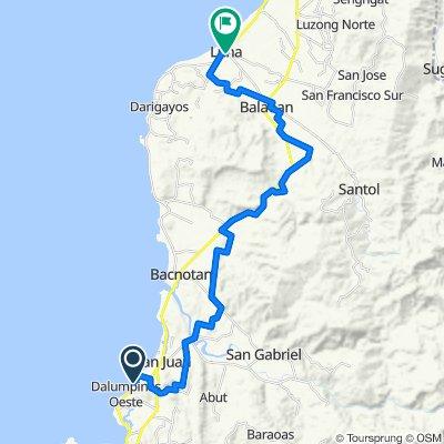 Route to Bacnotan-Luna-Balaoan Road, Luna