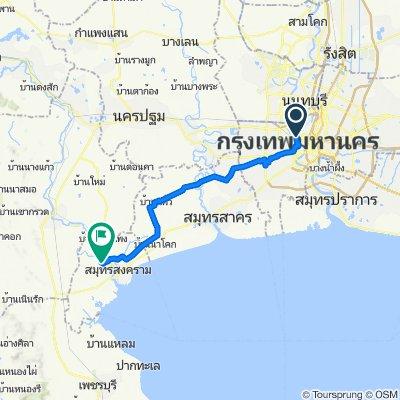 Trok Rong Mai, Bangkok to Soi Prachaset, Amphoe Amphawa