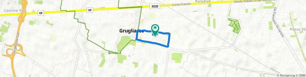 Via Bonfiglio Marengo 11, Grugliasco to Via Bonfiglio Marengo 10, Grugliasco