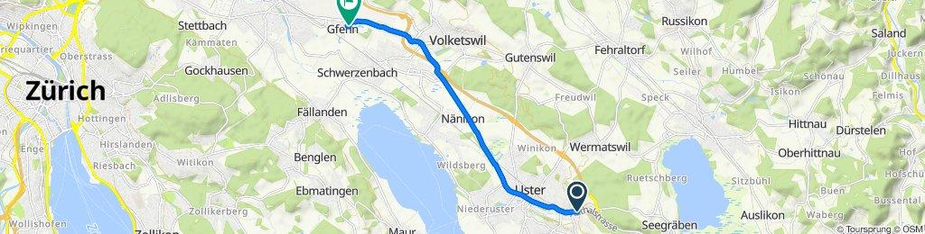 Schnelle Tour in Volketswil