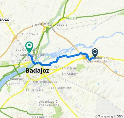De Lady Smith 16, Badajoz a Calle Marvao 2, Badajoz