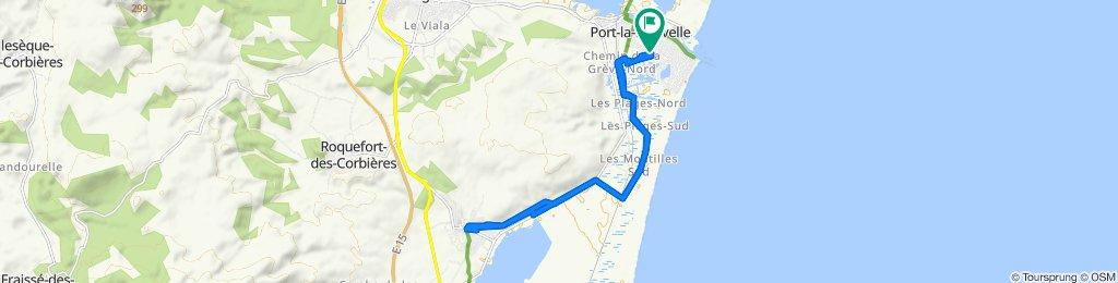 Port-la-Nouvelle à La Palme A/R
