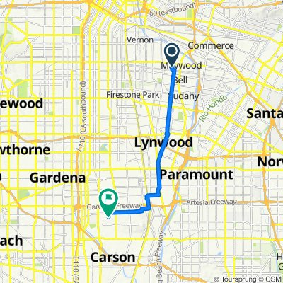 6050 Riverside Ave, Huntington Park to 1000 E Victoria St, Carson