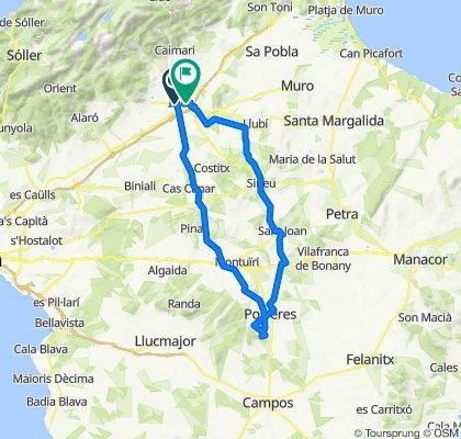 Montuiri-Santuari de Monti-Sion-Porreres-Sant Joan-Sineu-Inca