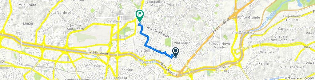 Rua Andaraí 287 to Rua dos Camarés 155