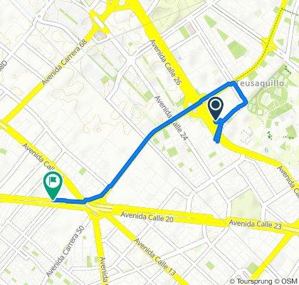 De Carrera 45 26-33, Bogotá a Carrera 56 91, Bogotá