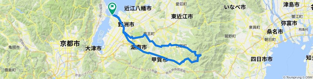 守山~旧東海道~水口・土山ルート