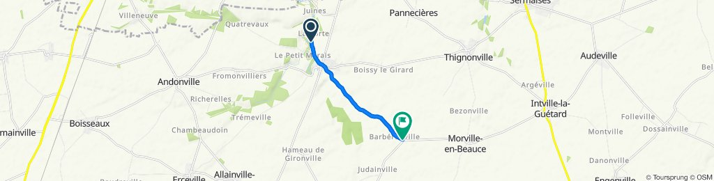 Itinéraire modéré en Morville-en-Beauce
