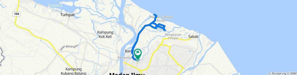 Jalan Taman Tengku Ahmad Panglima, Kampung Teluk Chat to Jalan Taman Tengku Ahmad Panglima, Kampung Teluk Chat