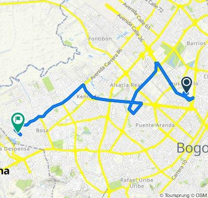 De Facultad de Derecho, Bogotá a Transversal 79d 14, Bogotá