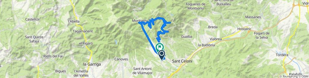Nou25 - Mosqueroles per Palau - Can Pa - Pujada per pista a les Antenes - Baixada per Carretera per Costa del Montseny, Montseny i Sant esteve.