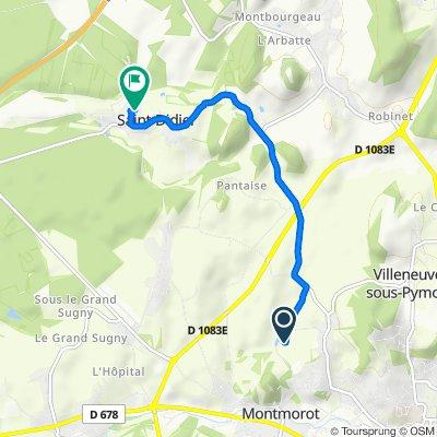 Itinéraire modéré en Saint-Didier