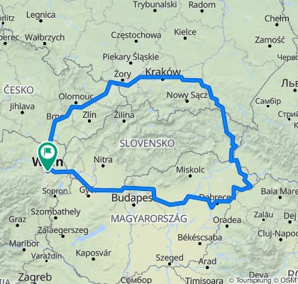 Wien, Brno, Ostrava, Cracovie, Budapest, Bratislava, Wien