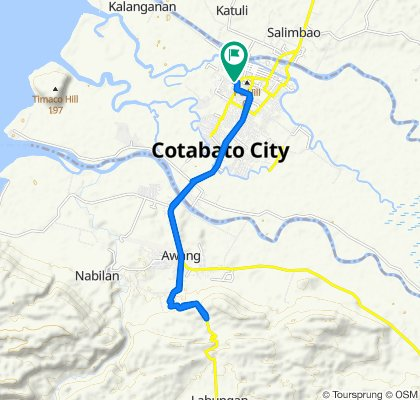 Relaxed route in Cotabato City
