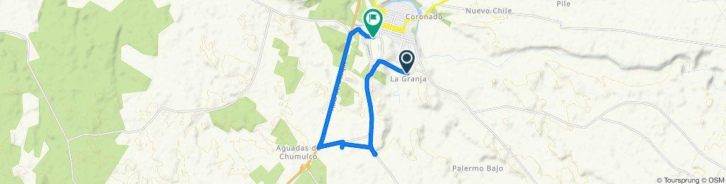 Bypass Sur Mulchén, Mulchén to Barros Arana 1–369, Mulchén