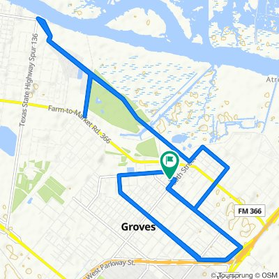 High-speed route in Groves