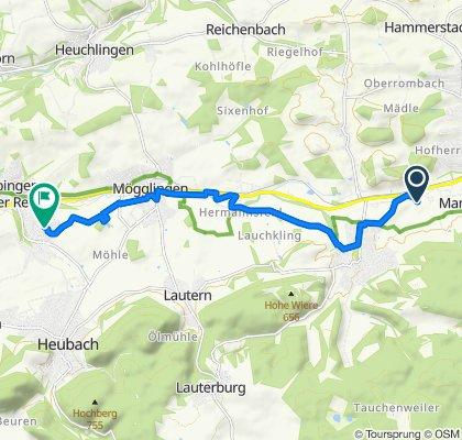 Schnelle Tour in Böbingen an der Rems