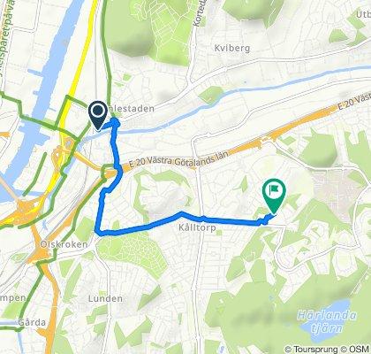 Gamlestads Brygga 3, Göteborg to Lindhultsgatan 23, Göteborg