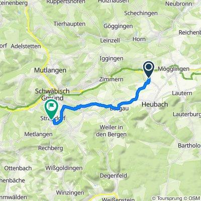 Lehrer-Wolf-Straße 27, Böbingen an der Rems to Göppinger Straße, Schwäbisch Gmünd
