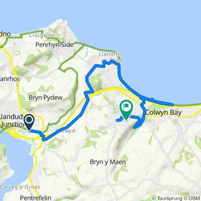 238 Conway Road, Llandudno Junction to 26 Bryn Garan, Colwyn Bay