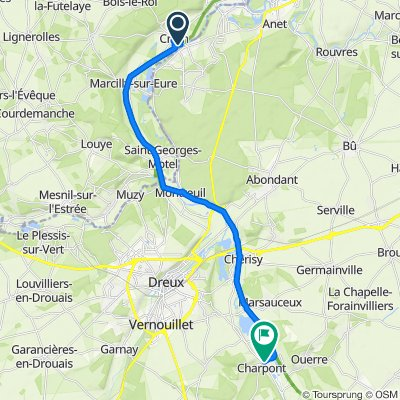 1–15B Rue de la Garenne, Croth to 30 Rue du Vieux Moulin, Charpont