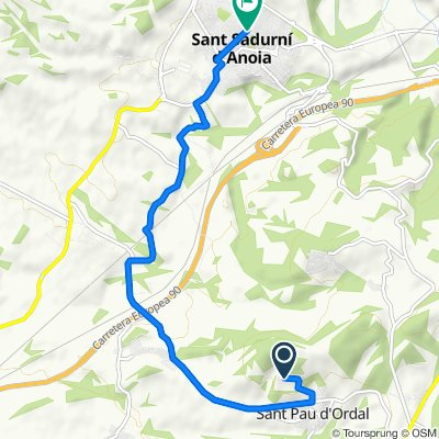 Camino Guardia, 213B, Subirats to Paseo del Baritón Maties Ferret, Sant Sadurní d'Anoia