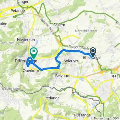 Sporty route in Differdange
