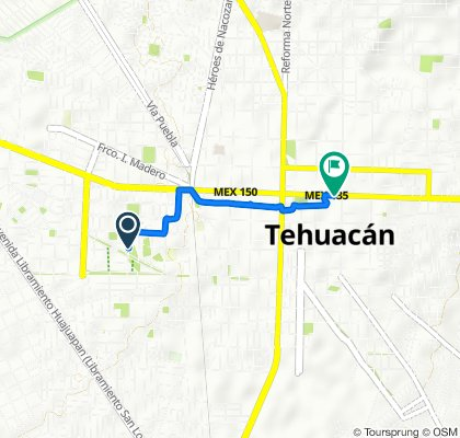 De Pto. Veracruz 29, Tehuacán a Privada de La Av. Independencia 30, Tehuacán