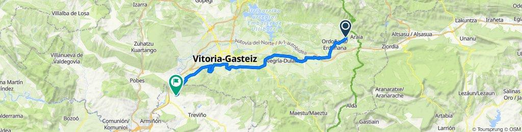 Camino de Santiago por el interior Donejakue bidea