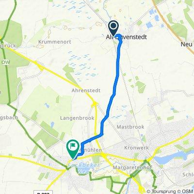 Pappelweg 1–3, Alt Duvenstedt to Rendsburger Straße 27, Fockbek