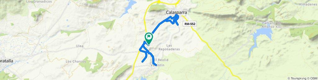 Calle de Urbanización Coto Riñales, 13, Calasparra to Calle de Urbanización Coto Riñales, 13, Calasparra