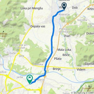 domzale-LJ-vzhodna pot