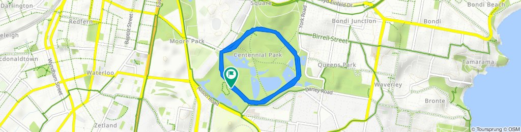 Supersonic route in Centennial Park
