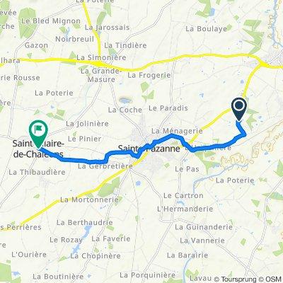 11 Rue de la Boitellerie, Sainte-Pazanne to Rue de la Bonne Fontaine, Saint-Hilaire-de-Chaléons