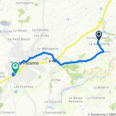 11 Rue de la Boitellerie, Sainte-Pazanne to 74 Rue du Ballon, Sainte-Pazanne