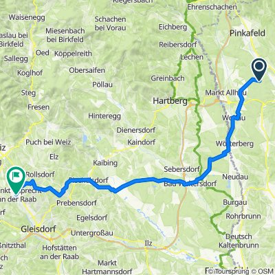 Hartberg-st. Rupert ad Raab Etappe 05 Weinland Steiermark Radtour