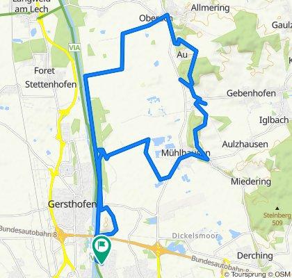 Staudenweg 33, Augsburg nach Staudenweg 33A, Augsburg
