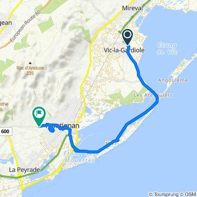 Route stable en Vic-la-Gardiole
