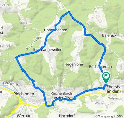 Einfache Fahrt in Ebersbach an der Fils