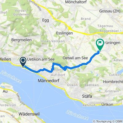 Im Dörfli 2, Meilen to Binziker-Strasse, Grüningen
