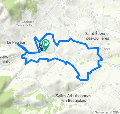 Itinéraire confortable en Le Perréon