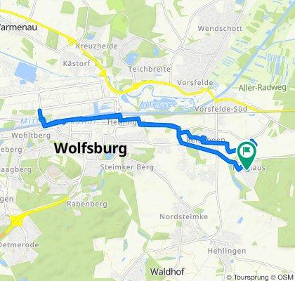 Seerosenstraße 22C, Wolfsburg to Seerosenstraße 22B, Wolfsburg