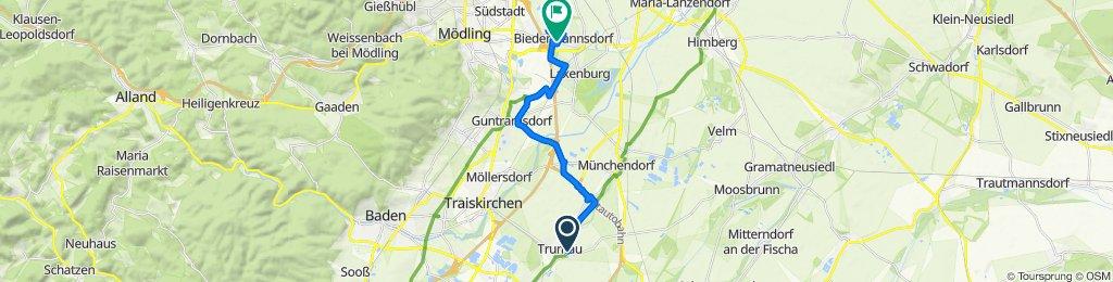 Ausfahrt nach Biedermannsdorf
