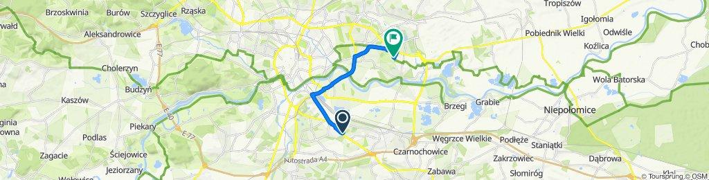 Zrelaksowana trasa w Kraków