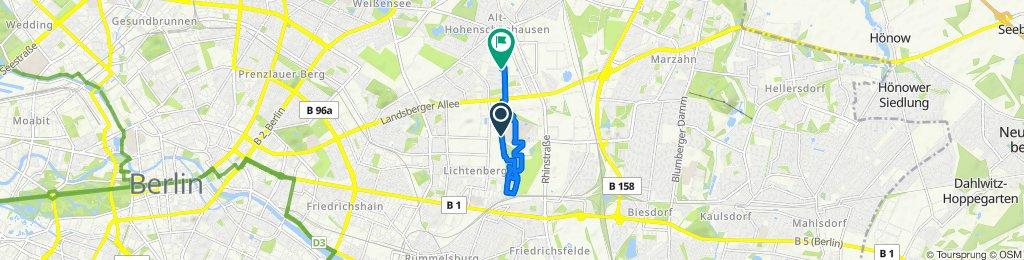 Allee der Kosmonauten 16, Berlin to Lichtenauer Straße 48, Berlin