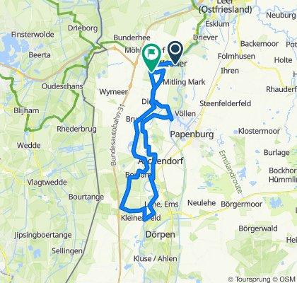 Knackige Fahrt in Weener