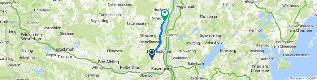 Hochschulstraße 1, Rosenheim to Rosenheimer Straße 61, Schechen