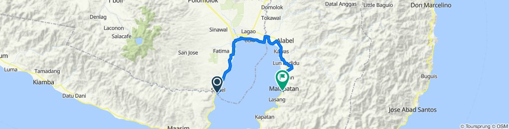 Route from sabado na